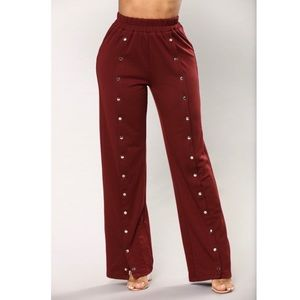 Emily Front Snap Button Pants